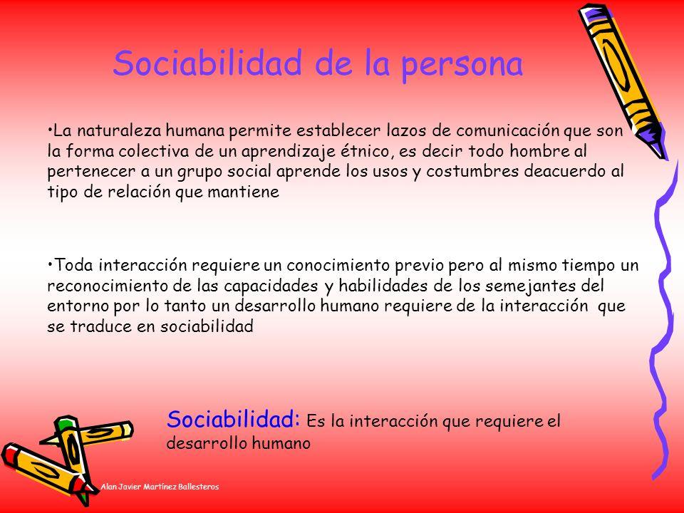 Sociabilidad de la persona