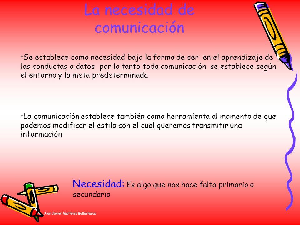 La necesidad de comunicación