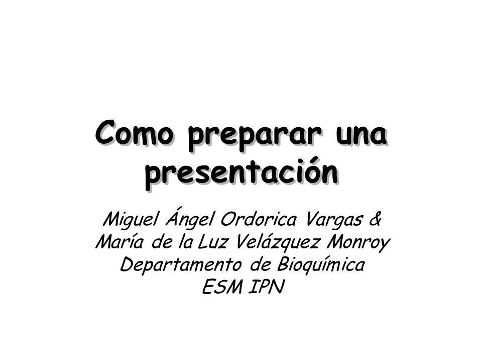 Como preparar una presentación
