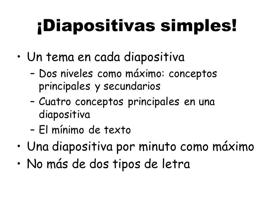 ¡Diapositivas simples!