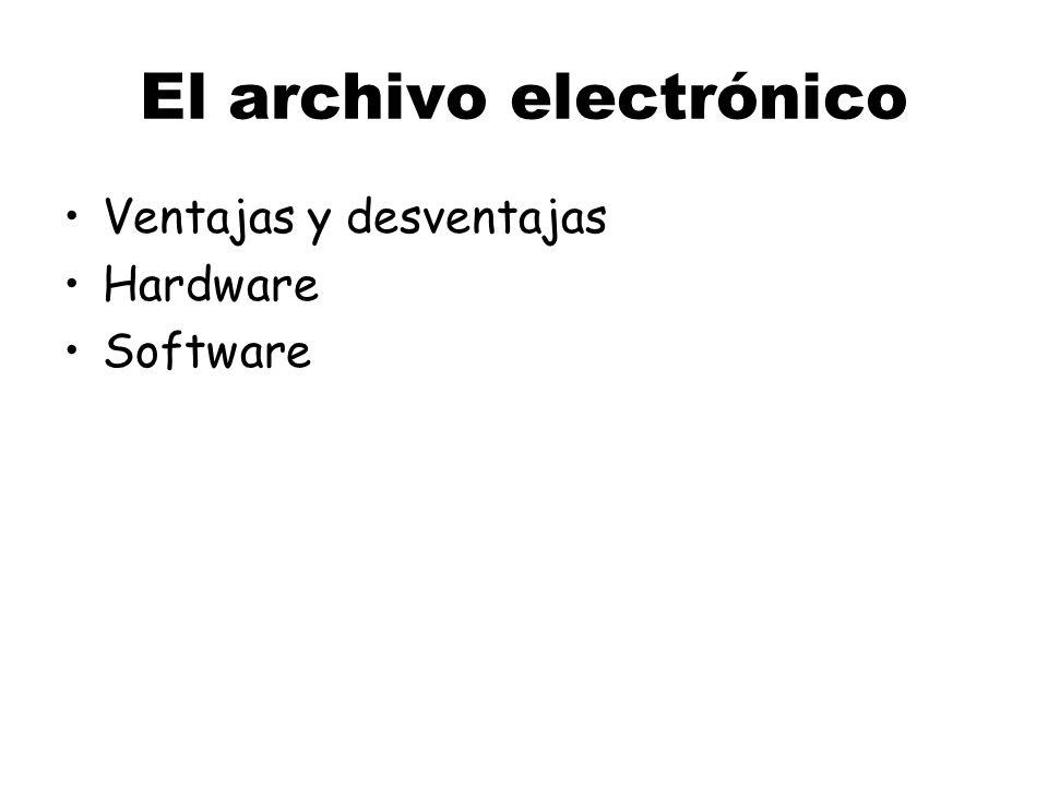 El archivo electrónico