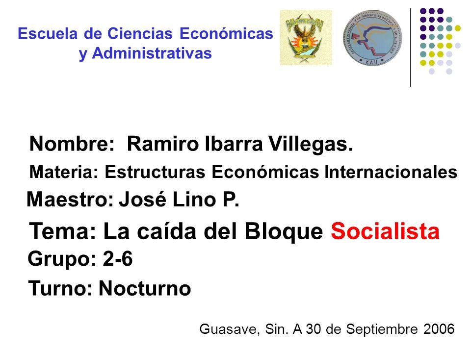 Escuela de Ciencias Económicas