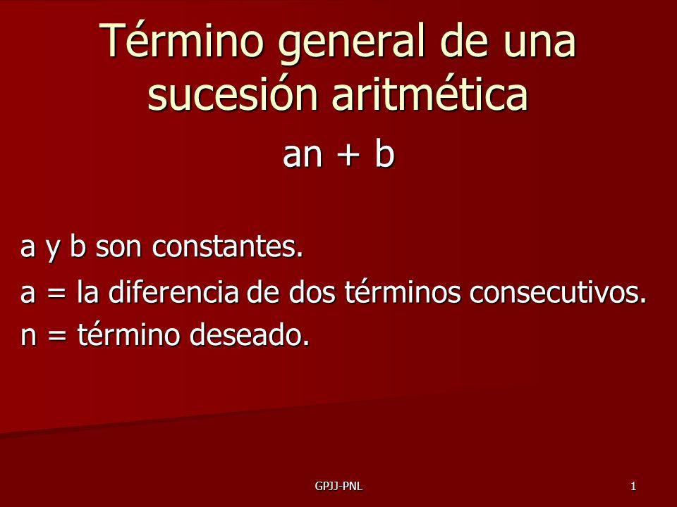 Término general de una sucesión aritmética