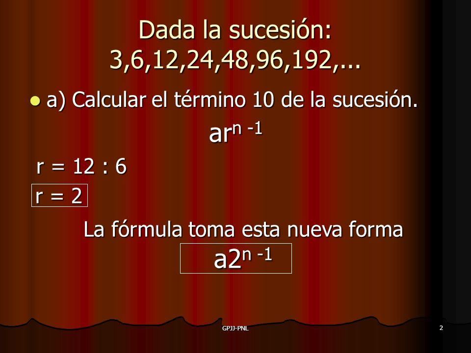 La fórmula toma esta nueva forma