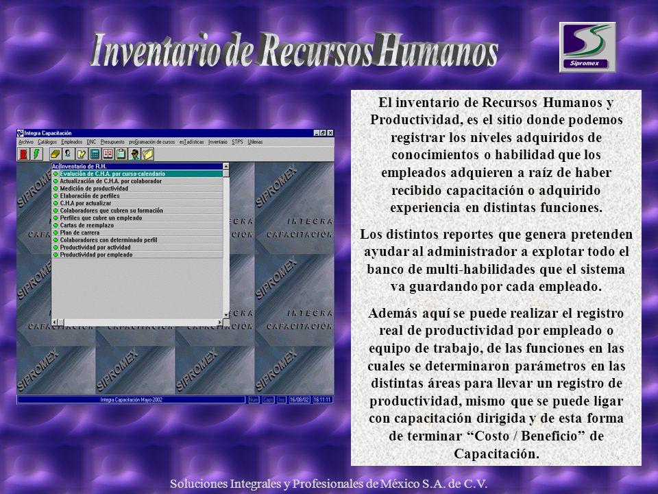 Inventario de Recursos Humanos