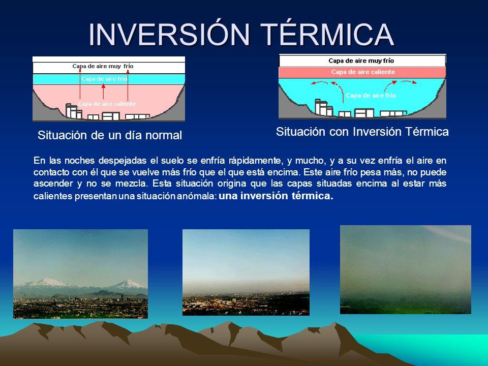 INVERSIÓN TÉRMICA Situación con Inversión Térmica