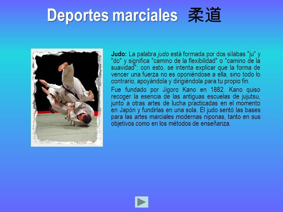Deportes marciales 柔道.