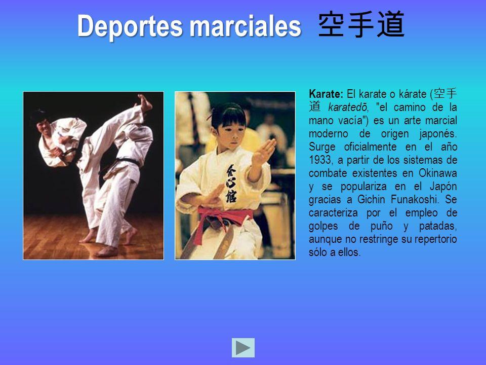 Deportes marciales 空手道