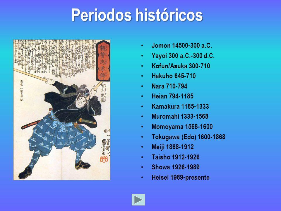Periodos históricos Jomon 14500-300 a.C. Yayoi 300 a.C.-300 d.C.