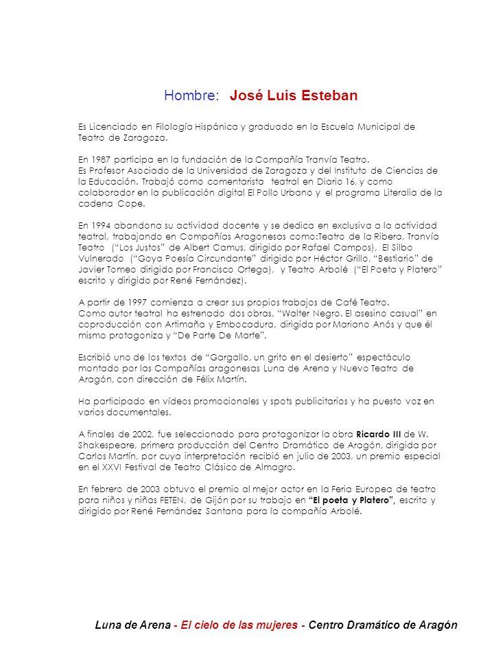 Hombre: José Luis Esteban