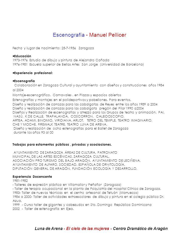 Escenografía - Manuel Pellicer