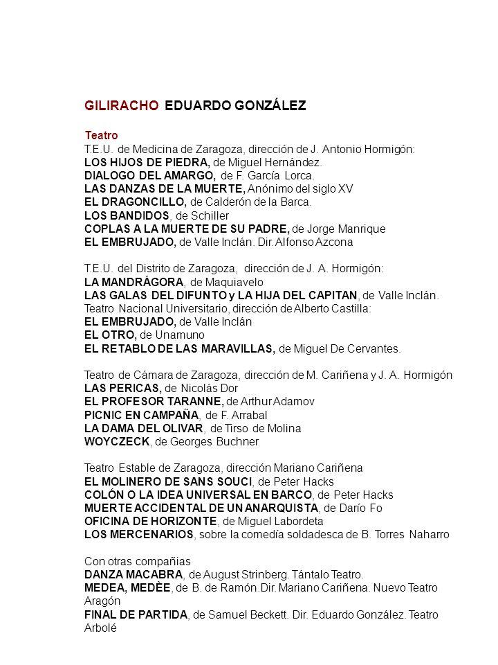 GILIRACHO EDUARDO GONZÁLEZ