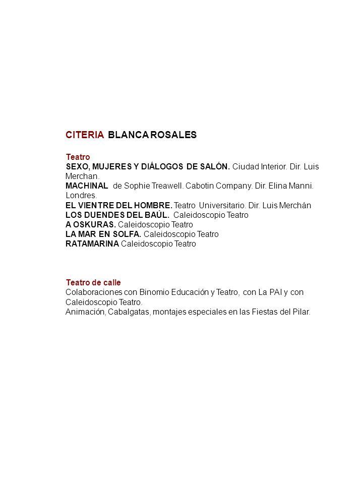 CITERIA BLANCA ROSALES