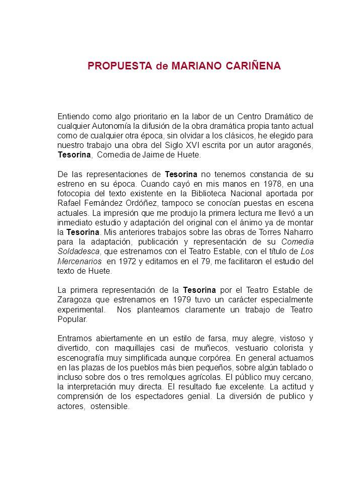 PROPUESTA de MARIANO CARIÑENA