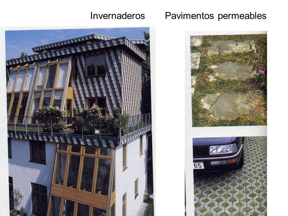 Invernaderos Pavimentos permeables