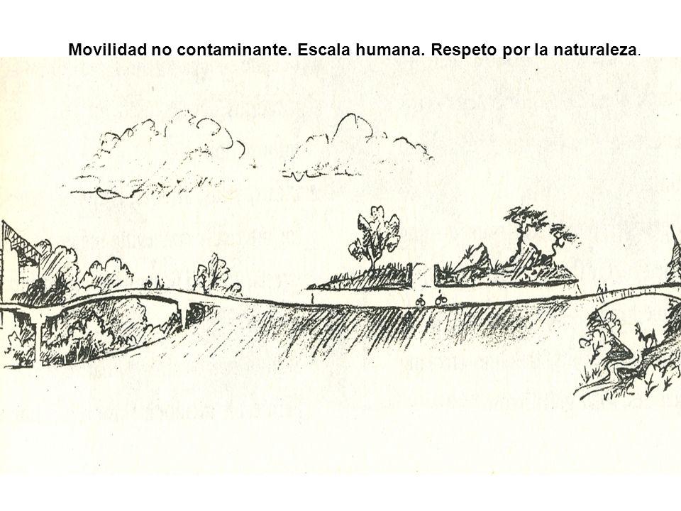 Movilidad no contaminante. Escala humana. Respeto por la naturaleza.