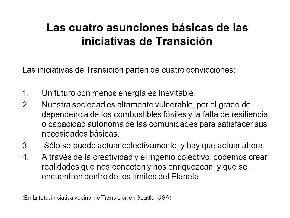 Las cuatro asunciones básicas de las iniciativas de Transición