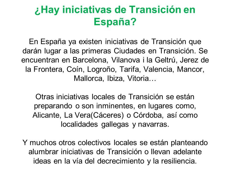 ¿Hay iniciativas de Transición en España