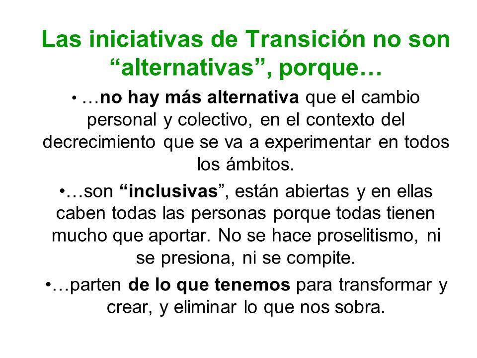Las iniciativas de Transición no son alternativas , porque…