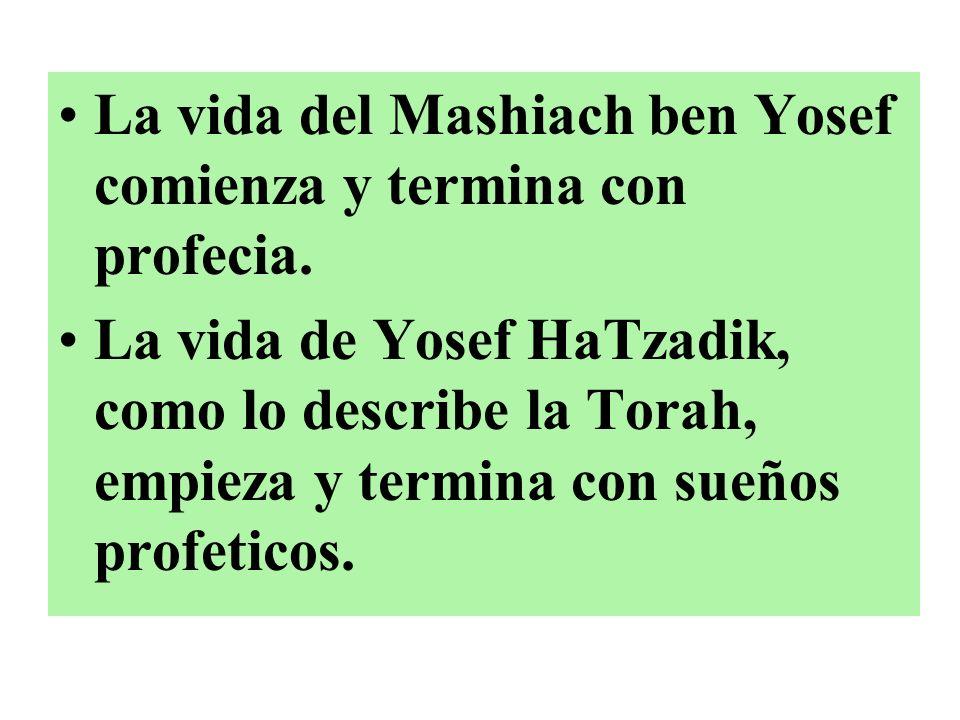 La vida del Mashiach ben Yosef comienza y termina con profecia.
