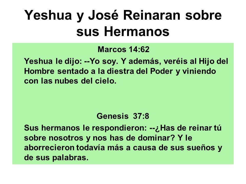 Yeshua y José Reinaran sobre sus Hermanos