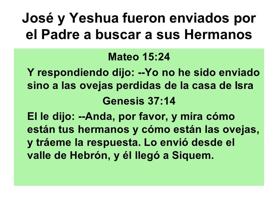 José y Yeshua fueron enviados por el Padre a buscar a sus Hermanos