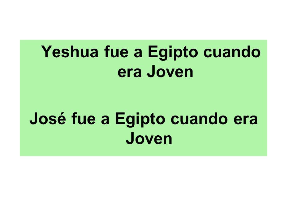 Yeshua fue a Egipto cuando era Joven