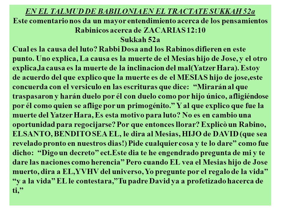 EN EL TALMUD DE BABILONIA EN EL TRACTATE SUKKAH 52a