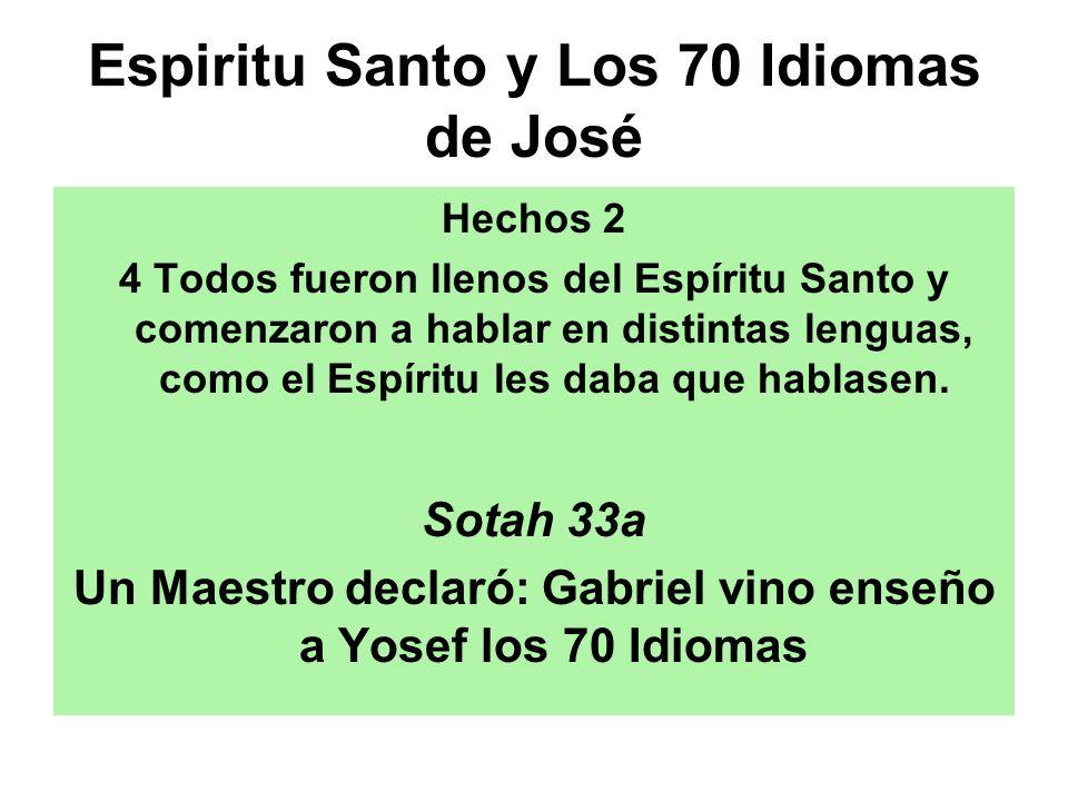 Espiritu Santo y Los 70 Idiomas de José