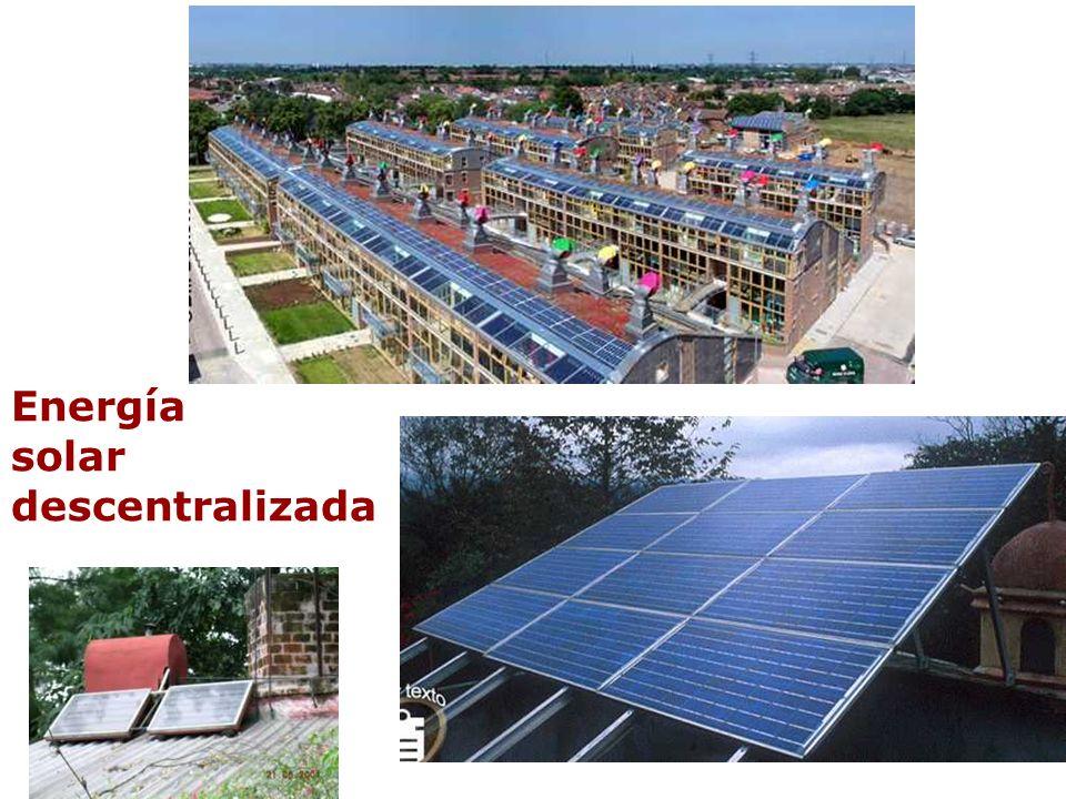 Energía solar descentralizada