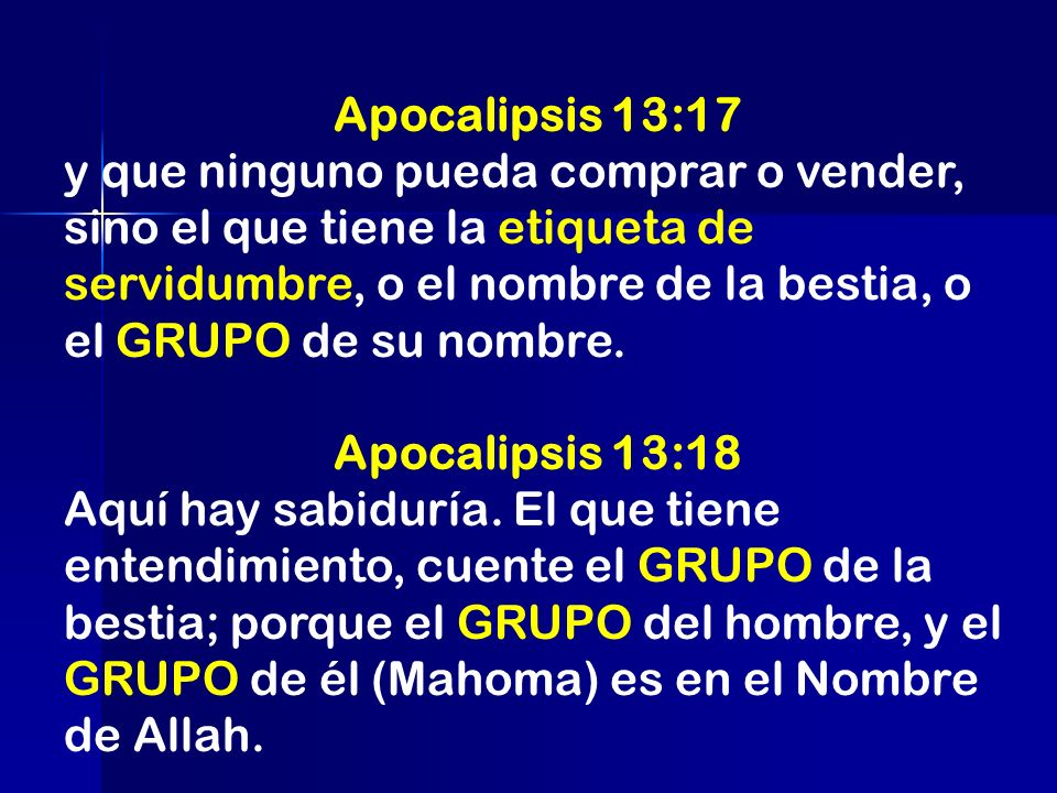 Apocalipsis 13:17
