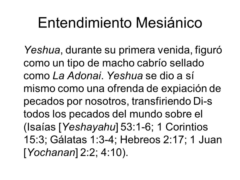 Entendimiento Mesiánico