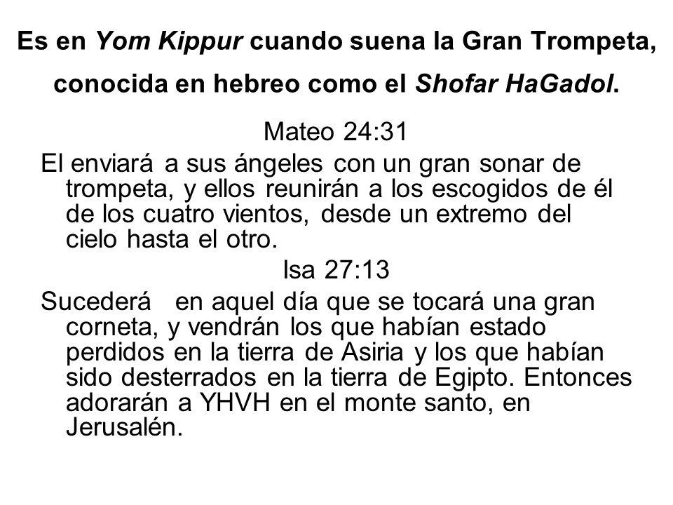 Es en Yom Kippur cuando suena la Gran Trompeta, conocida en hebreo como el Shofar HaGadol.
