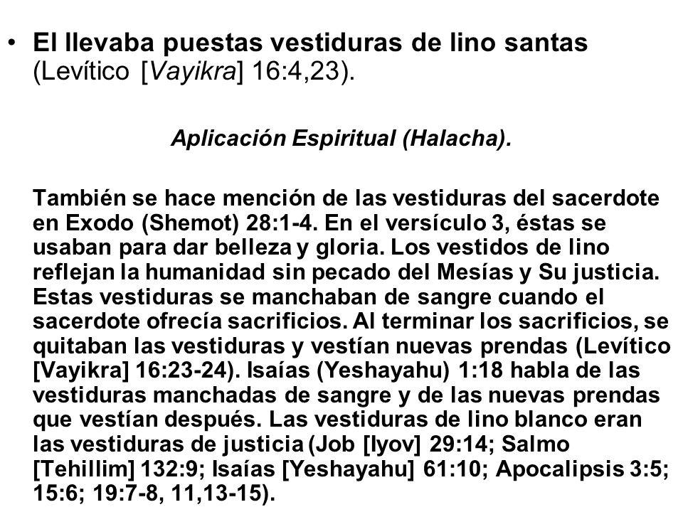Aplicación Espiritual (Halacha).