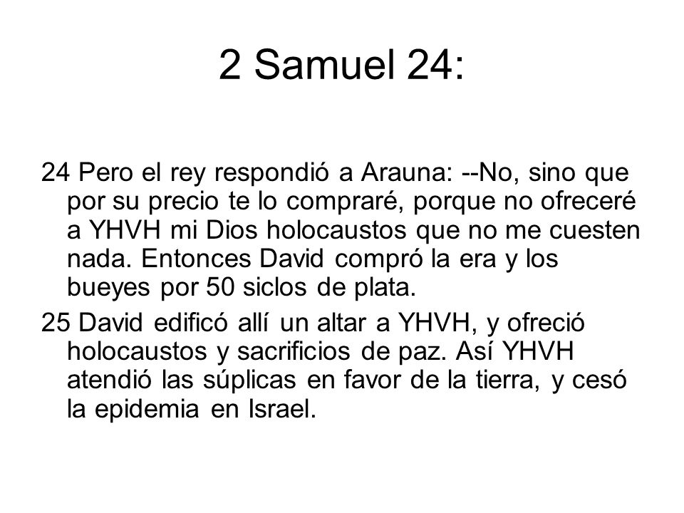 2 Samuel 24: