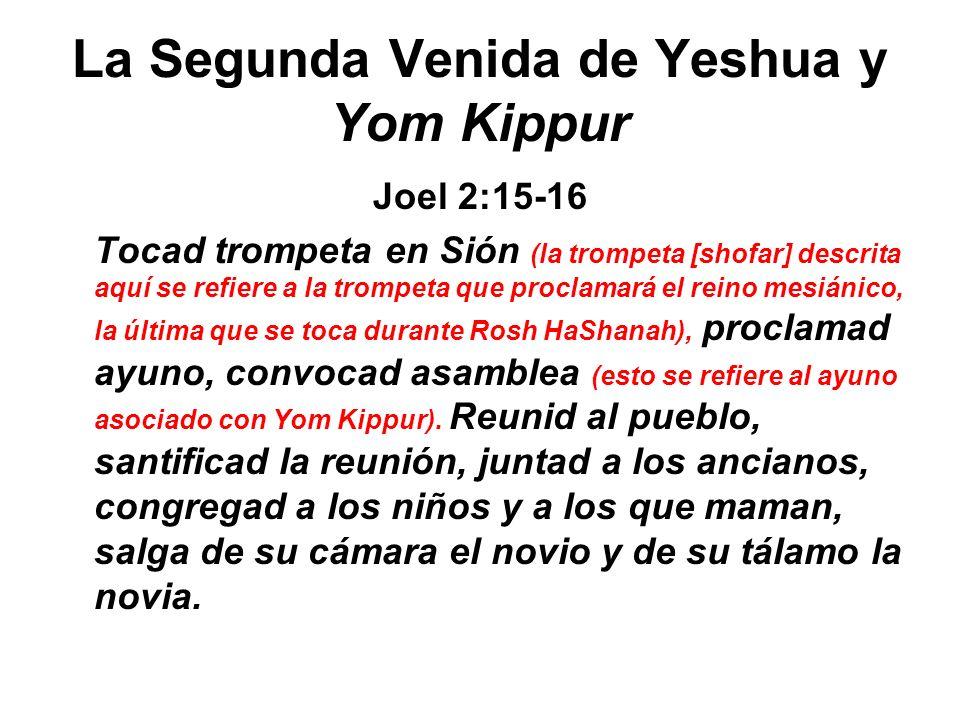 La Segunda Venida de Yeshua y Yom Kippur