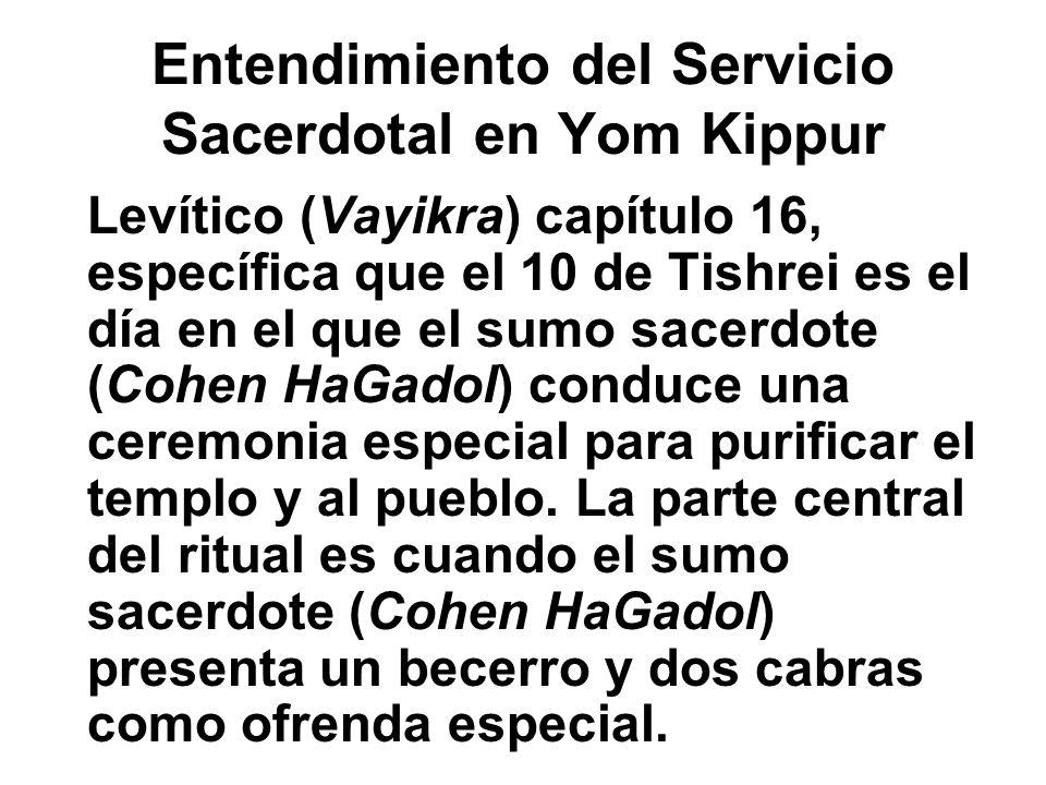 Entendimiento del Servicio Sacerdotal en Yom Kippur