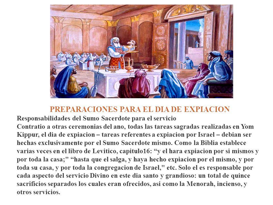 PREPARACIONES PARA EL DIA DE EXPIACION