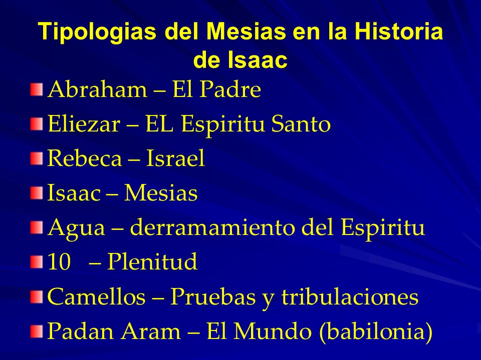 Tipologias del Mesias en la Historia de Isaac