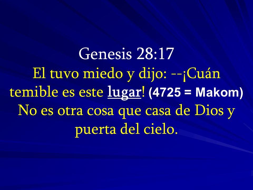 Genesis 28:17 El tuvo miedo y dijo: --¡Cuán temible es este lugar.