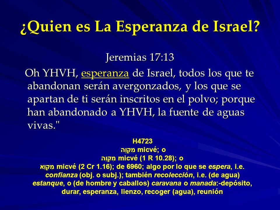 ¿Quien es La Esperanza de Israel