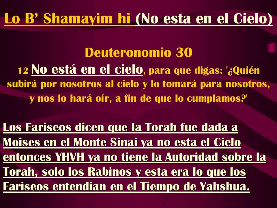 Lo B' Shamayim hi (No esta en el Cielo)