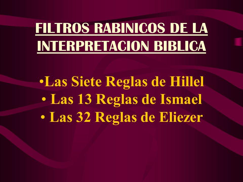FILTROS RABINICOS DE LA INTERPRETACION BIBLICA