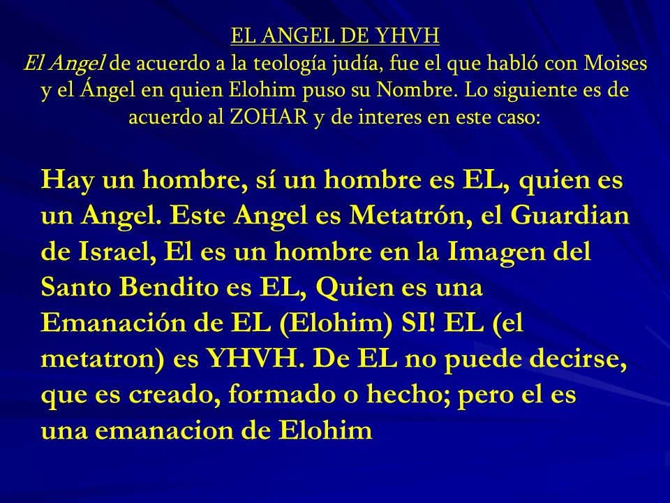 EL ANGEL DE YHVH
