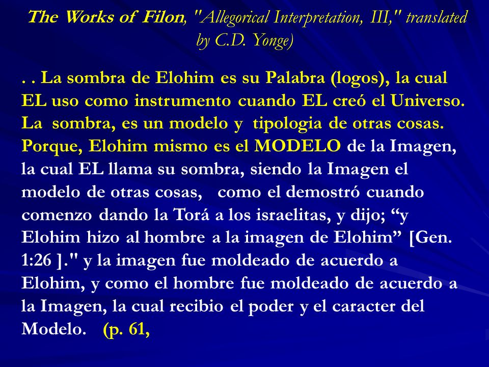 The Works of Filon, Allegorical Interpretation, III, translated by C