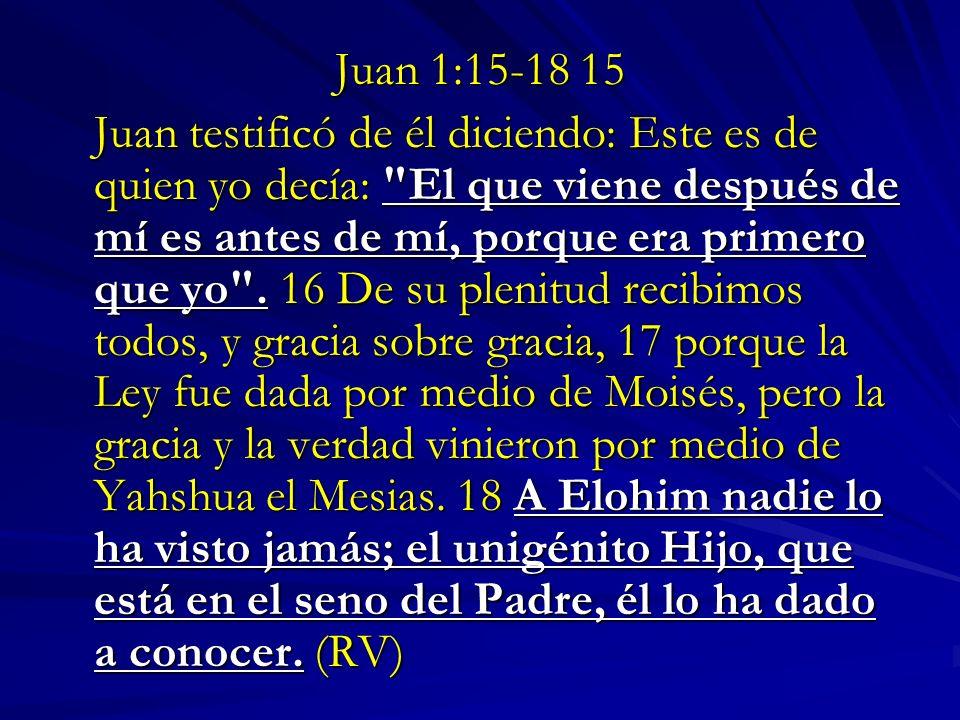 Juan 1:15-18 15
