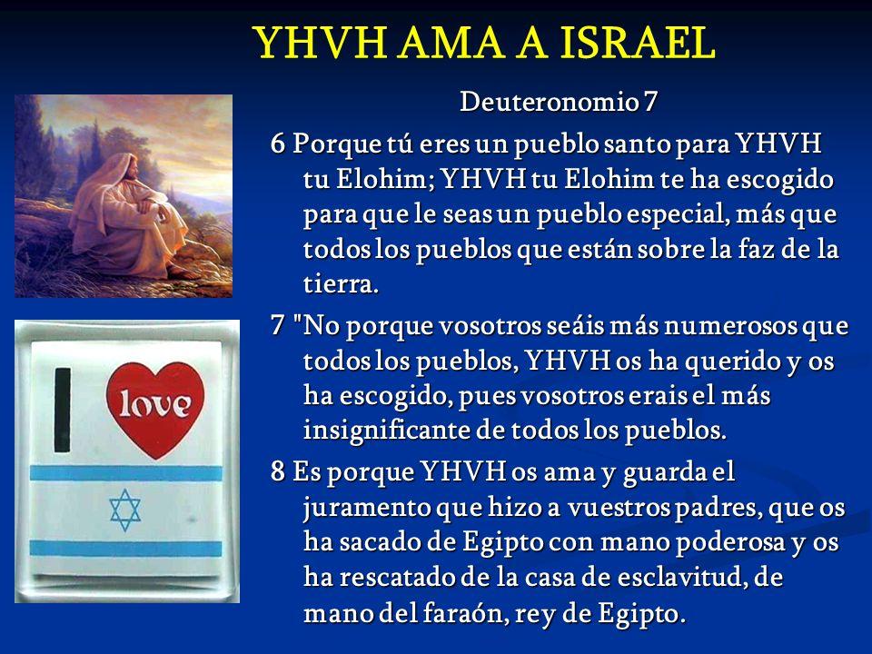 YHVH AMA A ISRAEL Deuteronomio 7