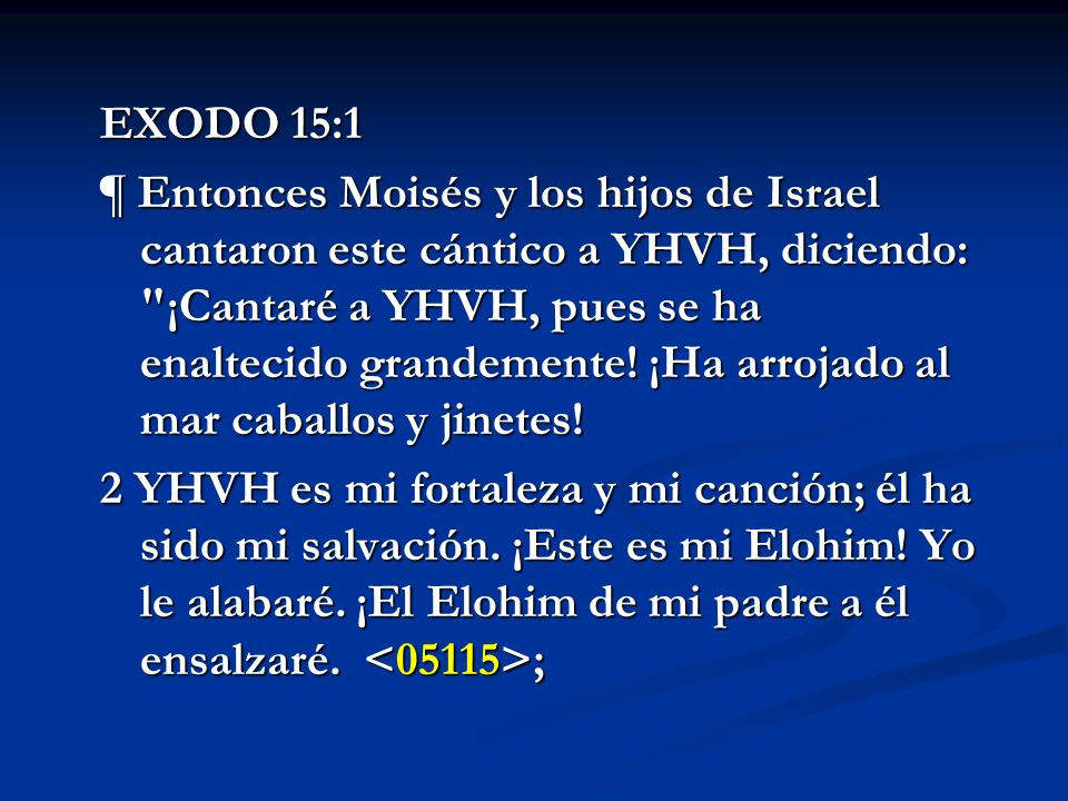 EXODO 15:1