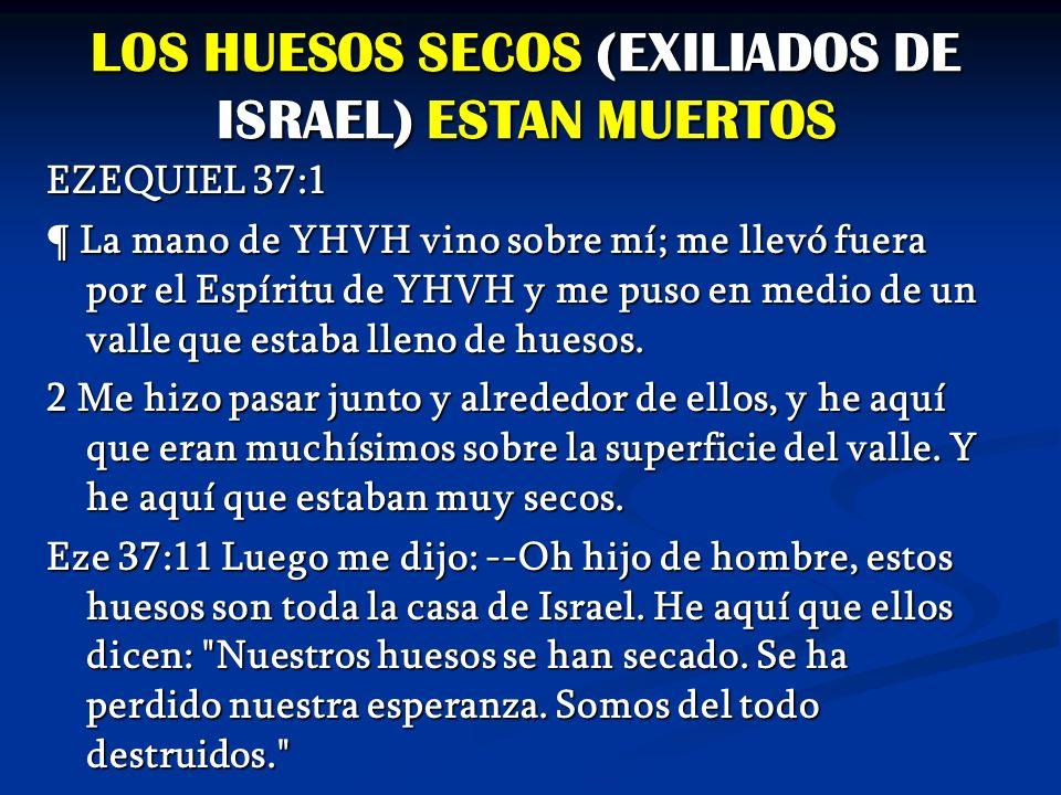 LOS HUESOS SECOS (EXILIADOS DE ISRAEL) ESTAN MUERTOS