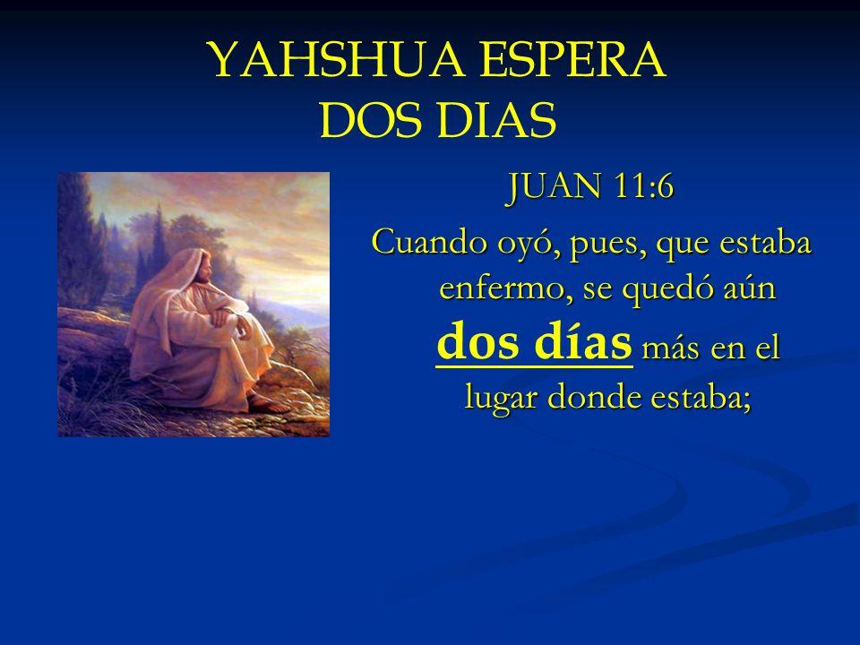 YAHSHUA ESPERA DOS DIAS
